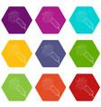 little petard icons set 9 vector image