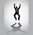 man with suit jumping vector image vector image