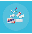 medical equipment flat web and print of pills vector image vector image