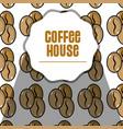 nice coffee grains background design vector image