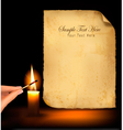 old paper candle vector image vector image