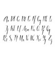 pen lettering alphabet vector image vector image