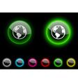 Planet button vector image vector image