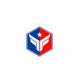 polygon star company logo vector image vector image