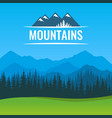 poster with scenic landscape forest and vector image vector image