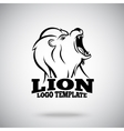 roaring lion logo template for sport teams vector image