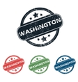Round Washington city stamp set vector image vector image