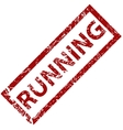 Running rubber stamp vector image vector image