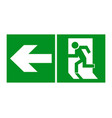 safe sign the exit icon emergency exit green vector image