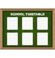 School schedule School Timetable stickers on vector image vector image