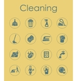 Set of cleaning simple icons vector image