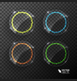 set of neon circles different colors vector image