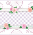 shabchic textile seamless pattern background vector image