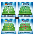 soccer team player plan group f with flags vector image vector image