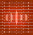 sound waves icon whitish icon on brick vector image vector image