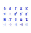 spray line icons cleaning and painting spray vector image