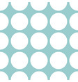 tile pastel pattern with mint green polka dots vector image vector image