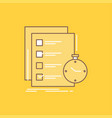 todo task list check time flat line filled icon vector image