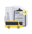 transportation surtax abstract concept vector image vector image