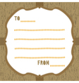 Wood pattern card3 vector image vector image