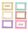 Wooden picture frames pastel set vector image vector image