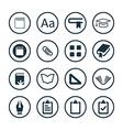books icons universal set vector image