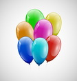 Colorful balloons with white background vector image