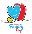 happy family day vector image