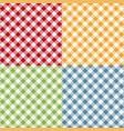 picnic table cloth seamless pattern set picnic vector image