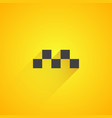 taxi logo on yellow background vector image