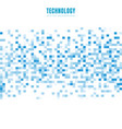 abstract geometric white and blue squares pattern vector image vector image