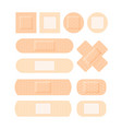 adhesive plaster medical set antiseptic patch vector image vector image