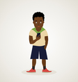 Afro American teenager vector image