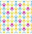 animal seamless pattern paw footprint endless vector image vector image