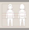 baby body measurements vector image vector image