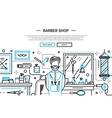 Barber Shop In the City - website banner vector image