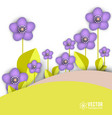 beautiful background with spring flowers vector image vector image