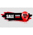 black friday sale black web banner poster sale vector image vector image