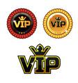 black vip symbol and gold award ribbons vector image vector image
