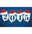Bubble speech 2015 with christmas hats vector image vector image