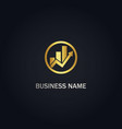 business arrow graph logo vector image