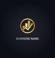 business arrow graph logo vector image vector image