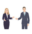 business woman and man flat vector image vector image