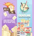business work deadline vertical banners vector image vector image