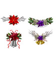 christmas decoration set vector image vector image