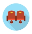 Cinema chair flat icon vector image vector image