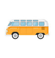 classic retro bus isolated vector image