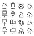 cloud computing technology icon in thin line style vector image vector image