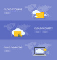 cloud coputing storage service and security vector image vector image