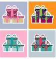 Colorful Christmas gifts set vector image